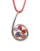 """Кулон """"Сорбе"""" с кристаллами Swarovski, покрытый золотом (e152p910)"""