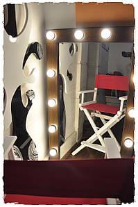 Стілець для майстра макіяжу, визажный стілець білий з рожевою тканиною