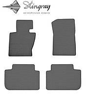 Ковры в автомобиль БМВ Х3 Е83 2004- Комплект из 4-х ковриков Черный в салон