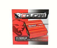 Усилитель автомобильный авто CAR AMP Cougar 500.2
