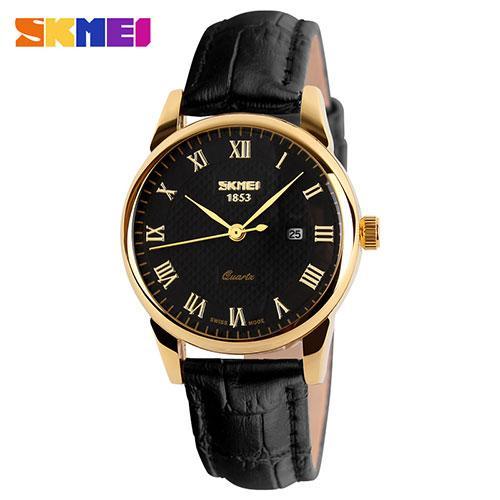 Мужские наручные часы SKMEI 9058 черный с золотистым