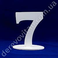 """Номерки на столы - цифра """"7"""" на подставке, 16 см"""