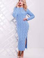 Длинное вязаное платье косой (Lolo fup)