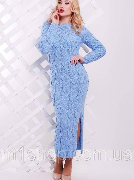 длинное вязаное платье косой Lolo Fup цена 558 грн купить в