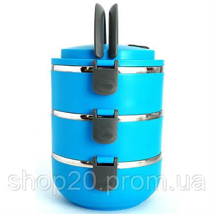 """Термо ланч-бокс тройной """"Hengli"""", три контейнера с плотными крышками - Интернет магазин """"shop_20"""" в Одессе"""