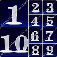 Набор номерков на столы - на подставках, 1-10, 16 см