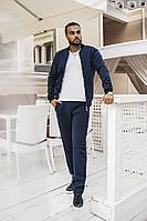 Спортивный костюм мужской синий тёплый на флисе (4 цвета) ВВ/-М55