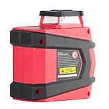 Уровень лазерный 360 град, 2 лазерные головки INTERTOOL MT-3052, фото 5