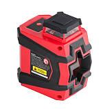 Уровень лазерный 360 град, 2 лазерные головки INTERTOOL MT-3052, фото 7