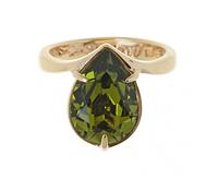 """Кольцо """"Остия SW"""" с кристаллами Swarovski, покрытое золотом (r674p033)"""