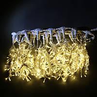 Гирлянда Штора Уличная 2х2 метра 620 led / Premium Curtain IP 65 Световой занавес, Водопад Тепло - белый