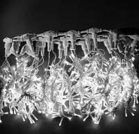 Гирлянда Штора Уличная 2х2 метра 620 led / Premium Curtain IP 65 Световой занавес, Водопад Холодно - белый