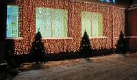 Гирлянда Штора Уличная 2х2 метра 620 led / Premium Curtain IP 65 Световой занавес, Водопад Синий