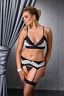 Комплект белья Camille set black 6XL/7XL - Passion, фото 1