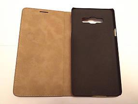 Кожаный чехол книжка Samsung Galaxy A7 (2015) A700F / A700H / A700K и т.д.