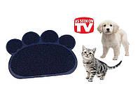 Подстилка коврик для домашних животных Paw Print Litter Mat