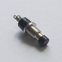 Кнопка PBS-105 черная без фиксации (Нормально разомкнутая)
