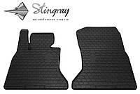Резиновые коврики Stingray Стингрей BMW 5 (F10) 2014- Комплект из 2-х ковриков Черный в салон. Доставка по всей Украине. Оплата при получении