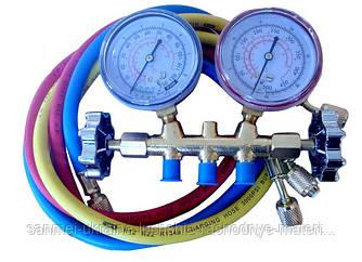 Манометрический коллектор 2-вентильный XM-R636 R-22 (R-12/22/502)