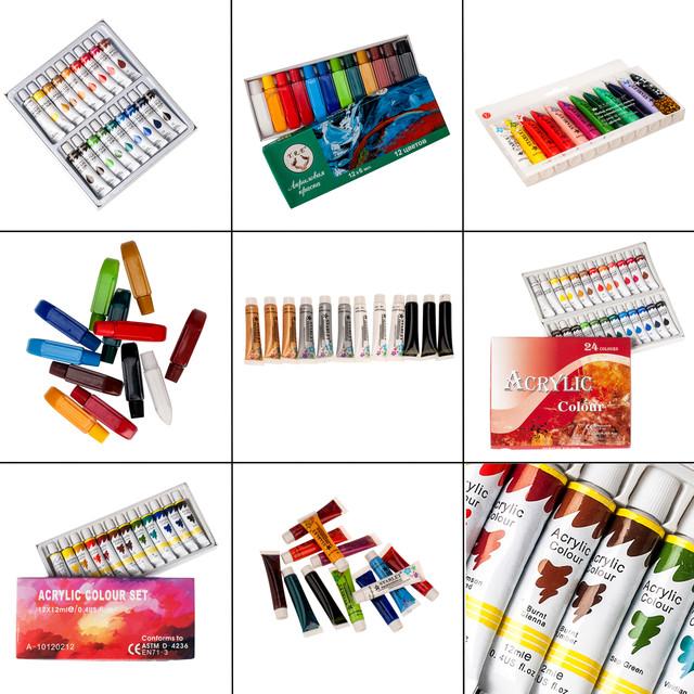 Краски акриловые, гелевые, для дизайна ногтей