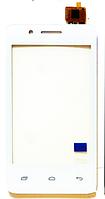 Тачскрин (сенсор) Fly iQ436i Флай, цвет белый