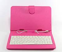 Чехол клавиатура для планшета 7 pink/red micro