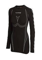 Реглан спортивный женский черный бесшовный Hummel термобелье