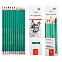 Простой карандаш с резинкой эластичный