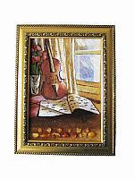 Картина из янтаря Скрипка (Картины и иконы из янтаря)