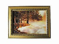 Картина из янтаря Лес у озера (Картины и иконы из янтаря)
