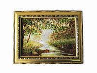 Картина из янтаря Весенний лес с ручейком (Картины и иконы из янтаря)