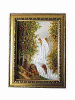 Картина из янтаря Водопад (Картины и иконы из янтаря)