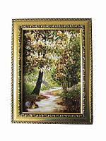 Картина из янтаря Весенний лес (Картины и иконы из янтаря)