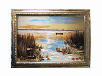 Картина из янтаря Камыш (Картины и иконы из янтаря)