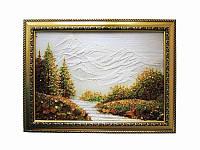 Картина из янтаря Горы в снегу (Картины и иконы из янтаря)