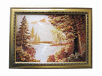Картина из янтаря Горы и озеро (Картины и иконы из янтаря)