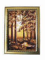 Картина из янтаря Лес с ручейком (Картины и иконы из янтаря)