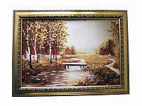 Картина из янтаря Село-перелаз (Картины и иконы из янтаря)