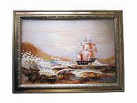 Картина из янтаря Паруса (Картины и иконы из янтаря)