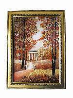 Картина из янтаря Часовня в лесу (Картины и иконы из янтаря)