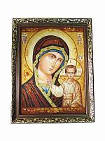 Икона из янтаря Казанская Богородица (Картины и иконы из янтаря)