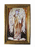 Икона из янтаря Архангел Михаил (Картины и иконы из янтаря)