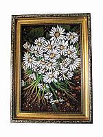 Картина из янтаря Ромашки (Картины и иконы из янтаря)