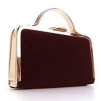Велюровая маленькая сумка rh-010 bor вечерний бордовый клатч, фото 1