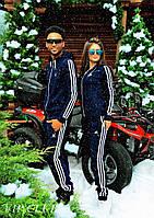 Женский + мужской тёплые спортивные костюмы Adidas