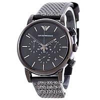 Элитные мужские часы Emporio Armani Black/Black (кварцевые)