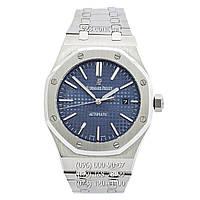 Элитные мужские часы Audemars Piguet Royal Oak Selfwinding Silver/Blue (механические)