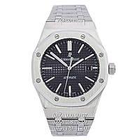 Элитные мужские часы Audemars Piguet Royal Oak Selfwinding Silver/Black (механические)