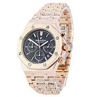 Элитные мужские часы Audemars Piguet Royal Oak AA Gold-Black (кварцевые)