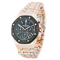 Элитные мужские часы Audemars Piguet Royal Oak AA Gold-Black-Black (кварцевые)